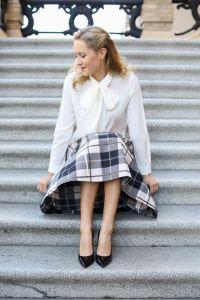 a-kate-spade-plaid-midi-skirt-bow-tie-blouse