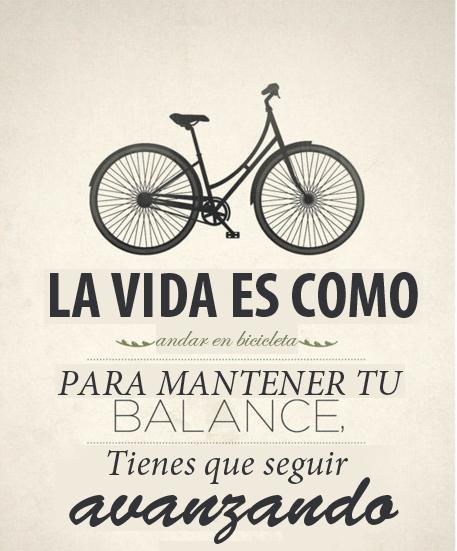 la vida es como andar en bicicleta del blog a mi armario